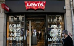 "Levi's store with the message ""we"