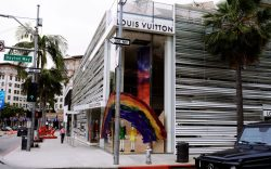 The Louis Vuitton Store Front on