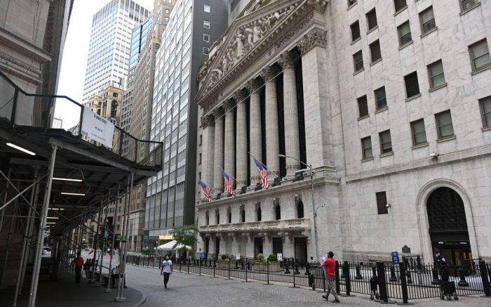 The New York Stock Exchange on Wall Street during the coronavirus outbreakCoronavirus outbreak, New York, USA - 25 Jun 2020