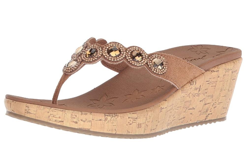 Skechers Women's Beverlee-Bizzy Babe Wedge Sandal
