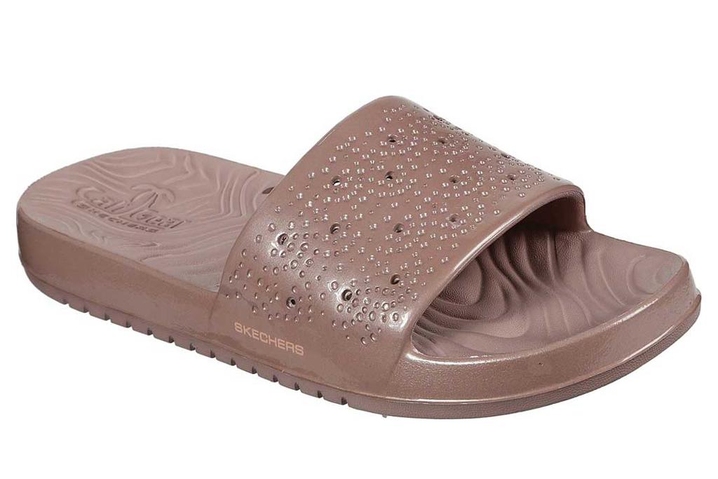 Skechers, tan slides