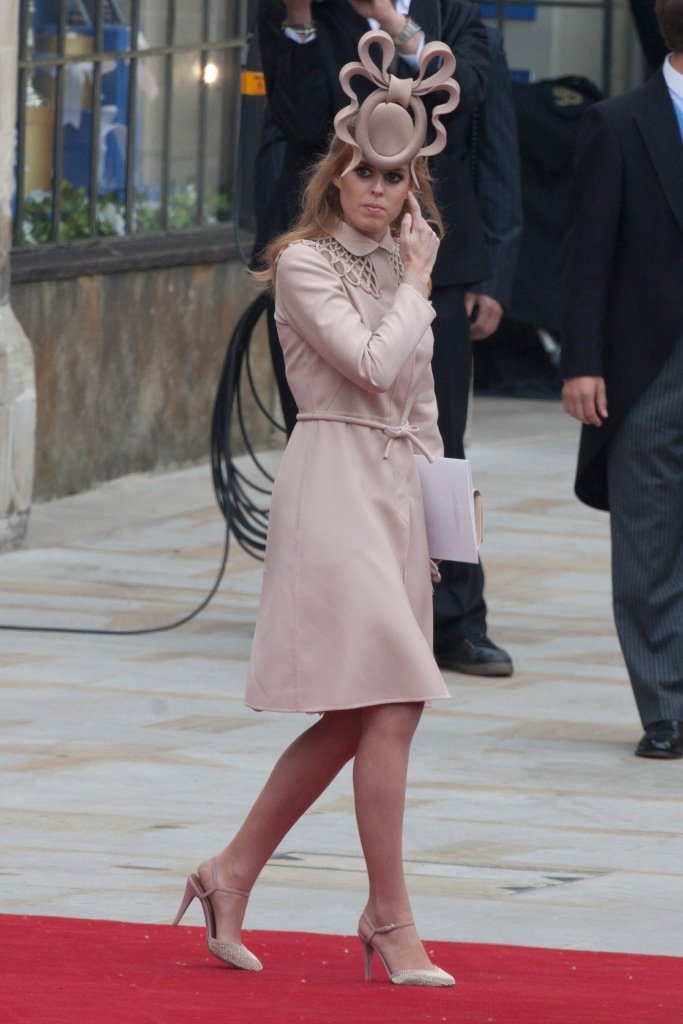 princess beatrice, kate middleton wedding, valentino coat, valentino shoes, philip treacy hat, Special guests at William and Kate Royal Wedding on April 29, 2011 in LondonPictured: Princess Beatrice,Princess BeatriceSinger Joss StoneQueen of DenmarkPrincess AnneSwimming star Ian ThorpeMaria TeresaGrand Duchess of LuxembourgLance Corporal Martyn ComptonSuadi Prince Al-Waleed bin TalaTrevor BrookingEd MilibandJustine ThorntonHouse of Commons Speaker John Bercow with his wife SallyDavid BeckhamVictoria BeckhamAustralian Olympian Ian ThorpeDavidVictoria Beckham (centre)William Hague (leftmiddle))his wife Ffion Jenkins (in wheelchair)Mayor of London Boris Johnson (centre)William Hague (centre)Elton Johnhis partner David FurnishEarl Spencerthe brother of the late Princess DianaRef: SPL273334 290411 NON-EXCLUSIVEPicture by: SplashNews.comSplash News and PicturesUSA: +1 310-525-5808London: +44 (0)20 8126 1009Berlin: +49 175 3764 166photodesk@splashnews.comWorld Rights, No Argentina Rights, No Czechia Rights, No France Rights, No Croatia Rights, No Hungary Rights, No Slovenia Rights, No Spain Rights, No United Kingdom Rights