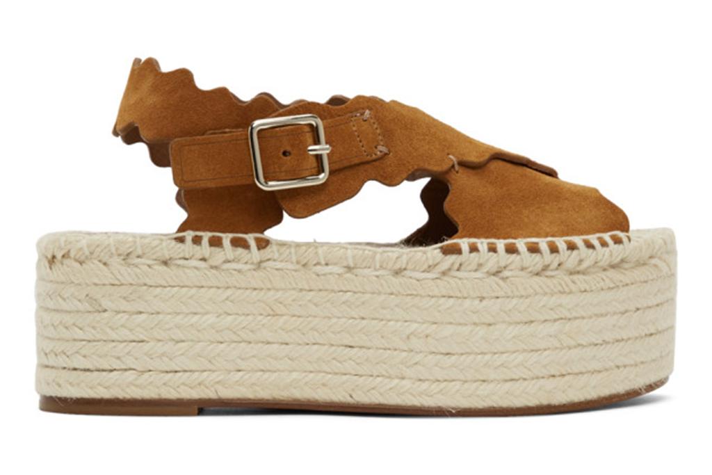 ssense shoes, ssense sale, chloe espadrilles