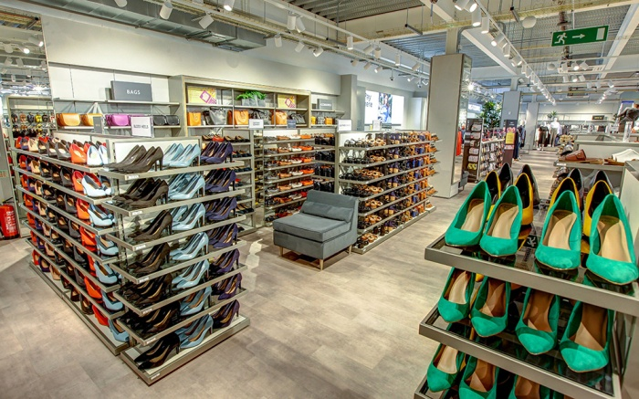 Marks & Spencer , shoe display
