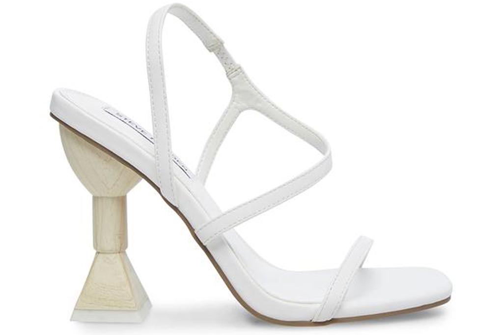 Steve Madden, white heels, structural