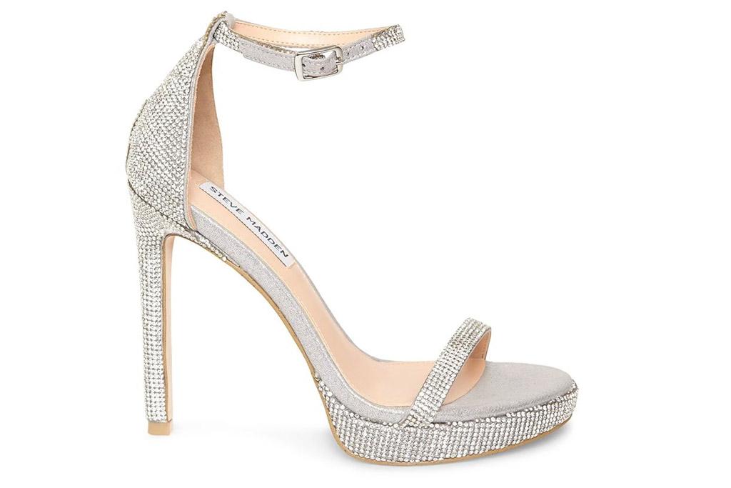 steve madden, silver, platform, heels