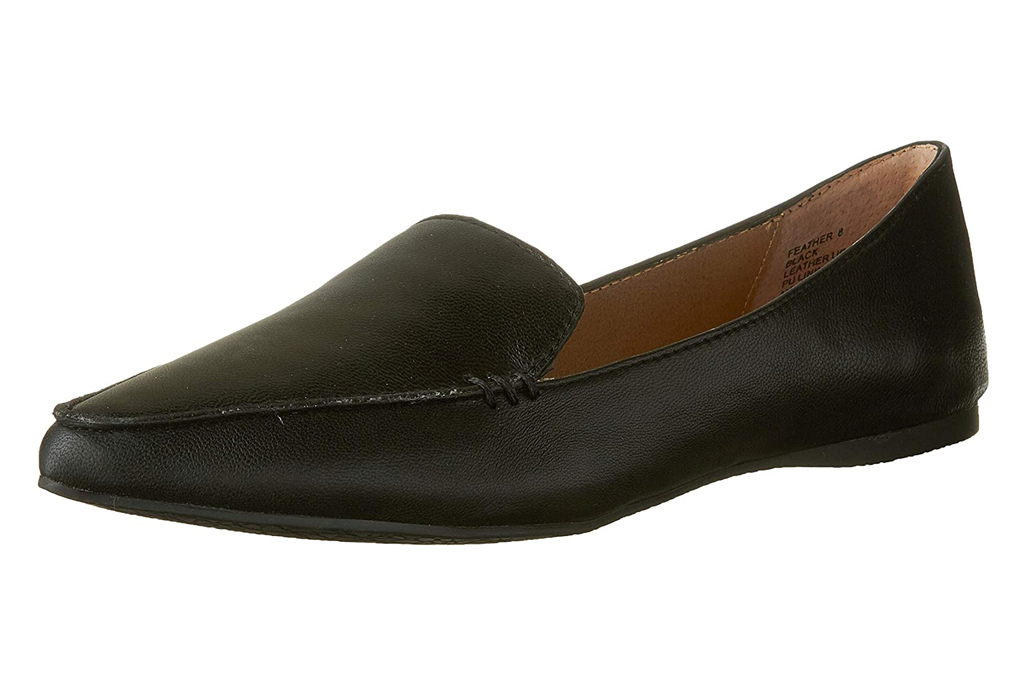 steve madden, black loafers