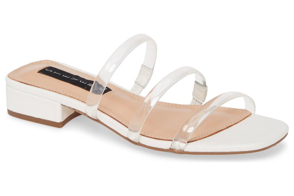 steven, new york, sandals, clear
