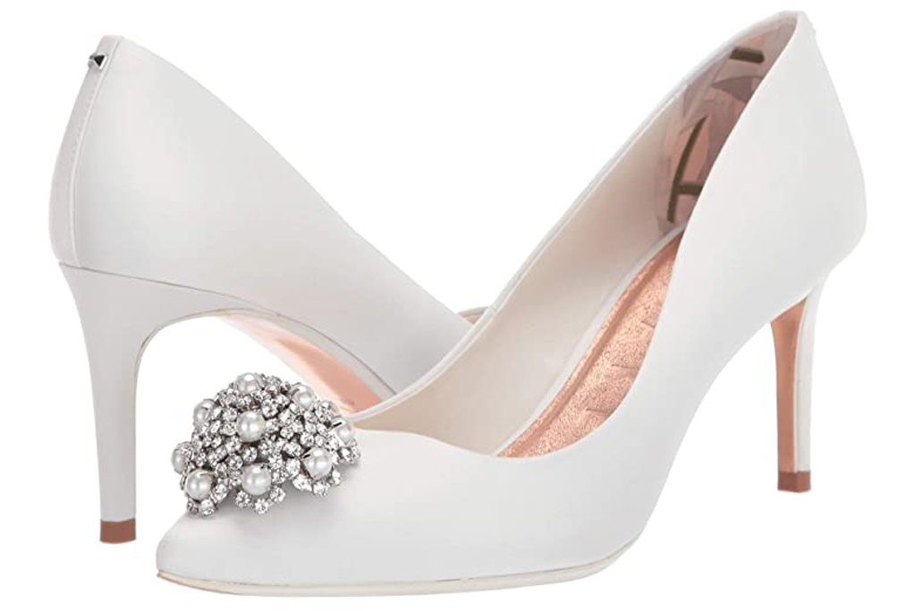 Ted Baker, white pumps