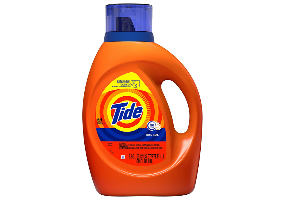 laundry detergent, bleach, tide