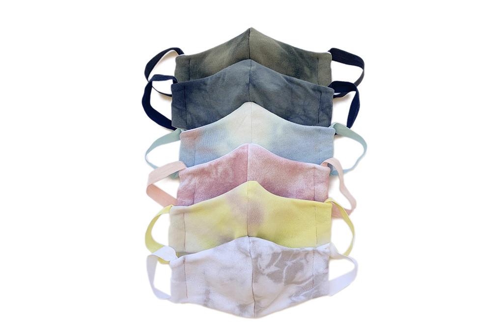 old navy face masks, fabric face masks, tie-dye face masks