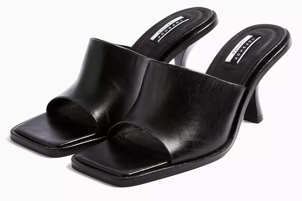 topshop, black mules