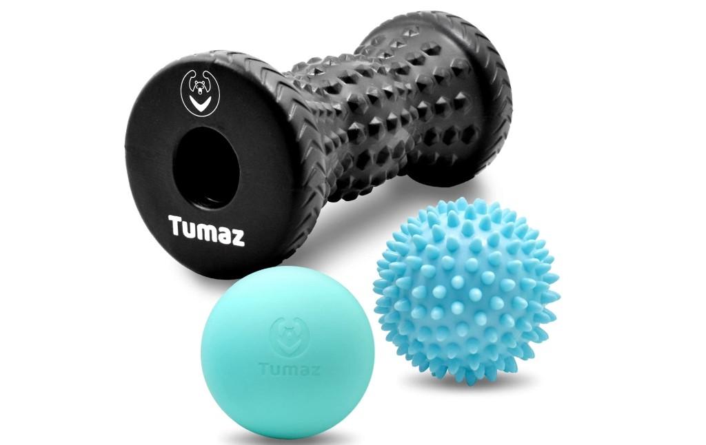 Tumaz Massage Ball & Foot Roller 3-in-1 Set