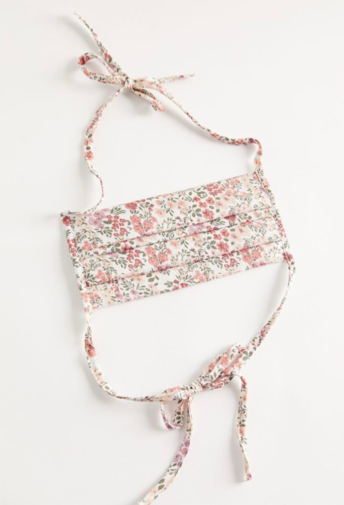urban outfitters, face mask, floral