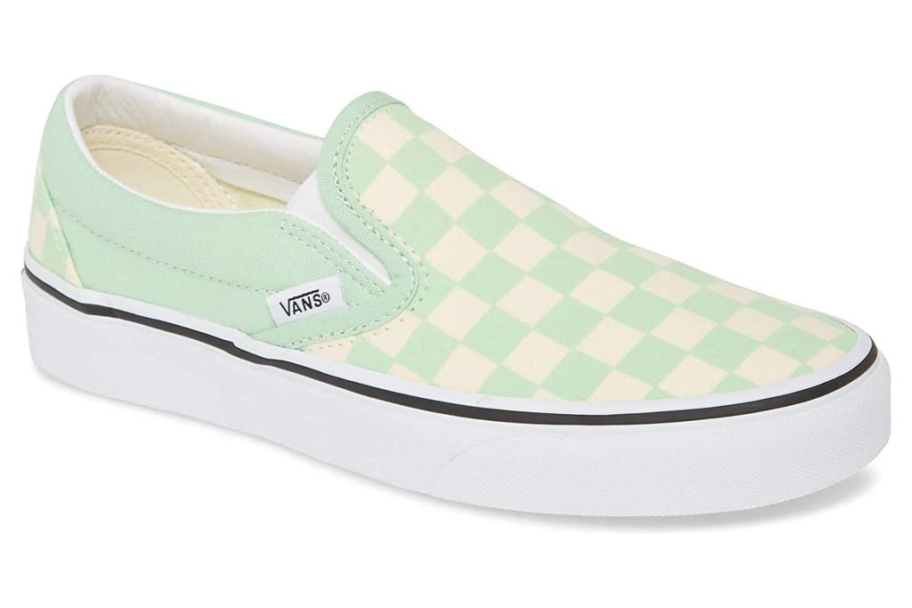 vans, slip on, style, green