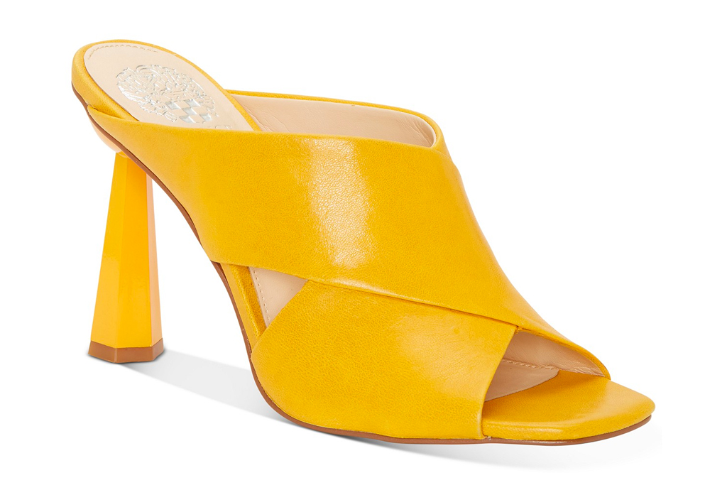 vince camuto, sandals, yellow, sale, macy's