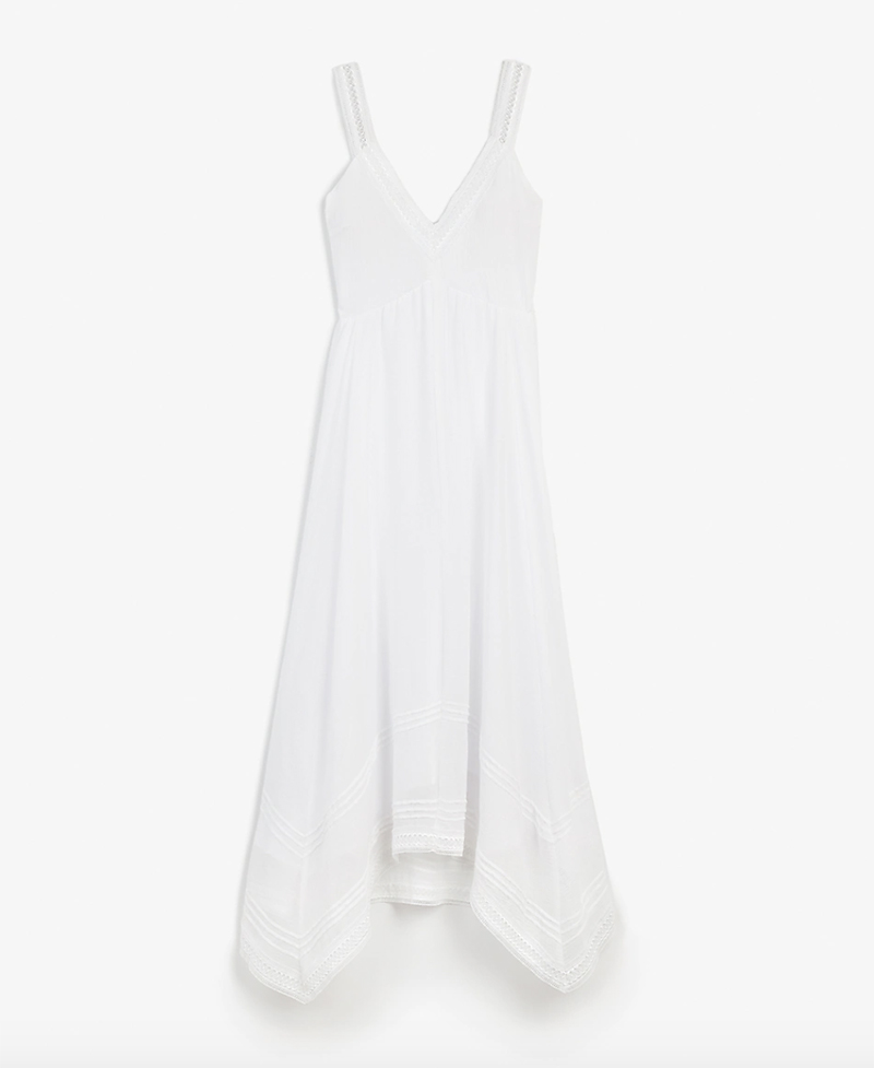 white dress, flowy, tank, express
