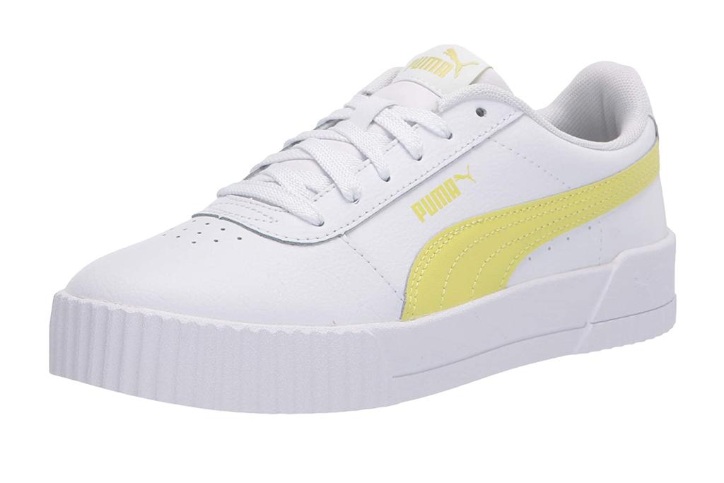 puma sneakers, carina, yellow, white