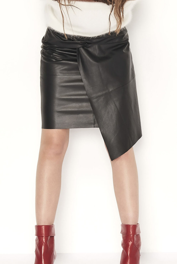 Ba&Sh sample sale, Ba&Sh leather skirt, lea skirt