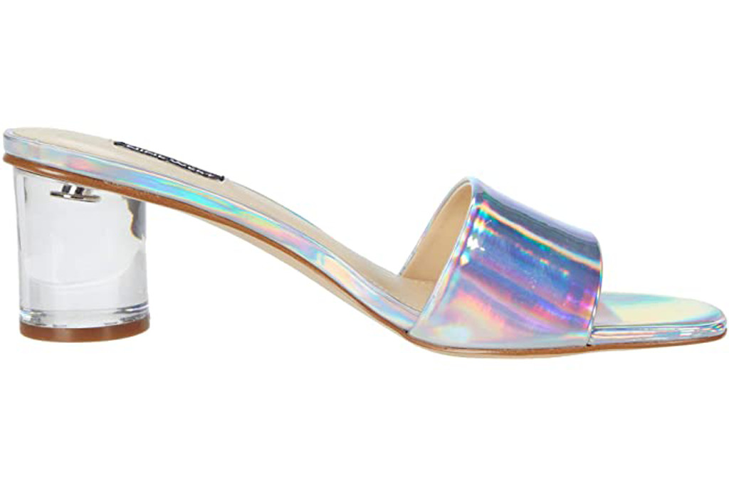 iridescent heel, nine west heel, shiny heels