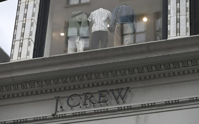 American retailer J.Crew filed for bankruptcy on Monday May 4th, becoming the first casualty of the economic effect of the Coronavirus pandemic, New York, NY, May 4, 2020. Other retailers such as JCPenney and Sears are also suffering under COIVD-19 pandemic's effects that have forced people to stay home and away from major retail stores. (Anthony Behar/Sipa USA)(Sipa via AP Images)
