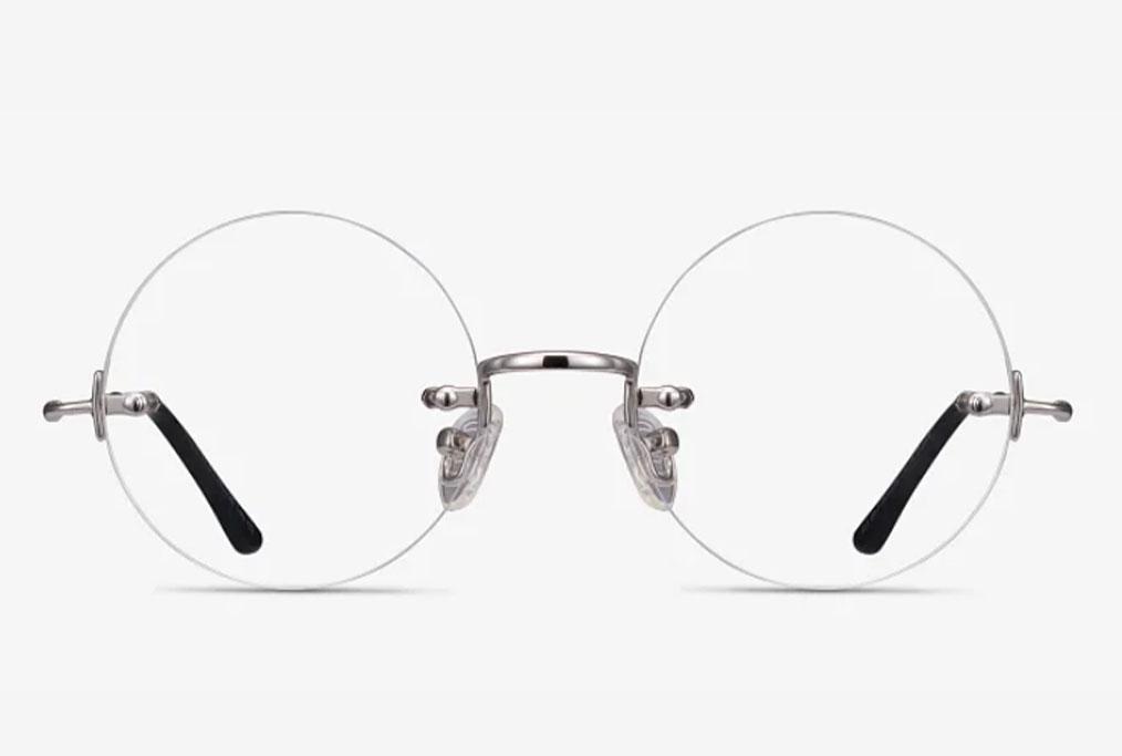 Palo Alto, Round, Silver, Eyeglasses