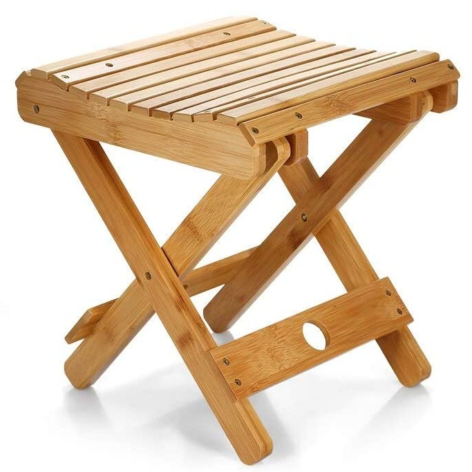 FunKaza Bamboo Folding Stool