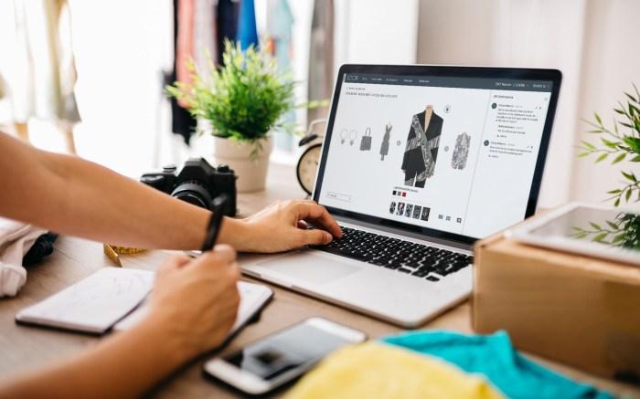 Photo of laptop screen showing Joor wholesale platform