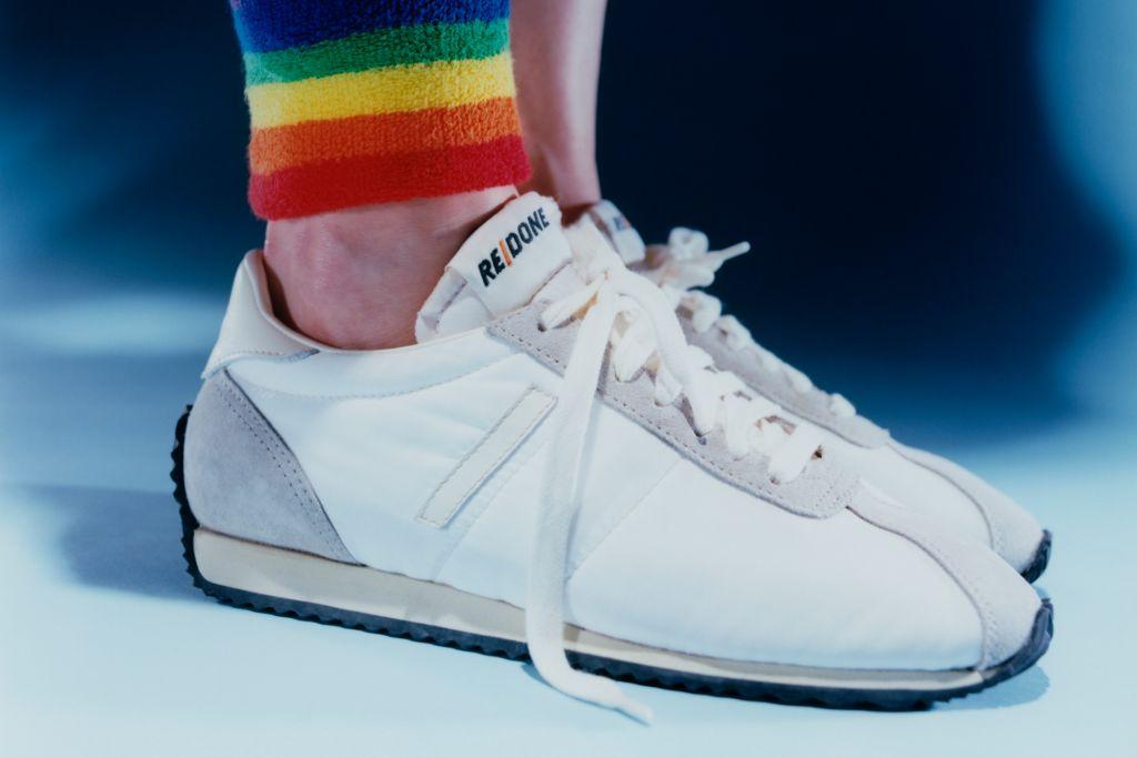 redone, redone sneaker, re/done, re/done jeans, redone denim, 70s runner, 70s sneaker, vintage sneaker