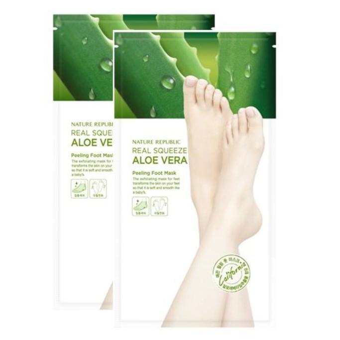 Nature Republic Real Squeeze Aloe Vera Foot Peeling Ma