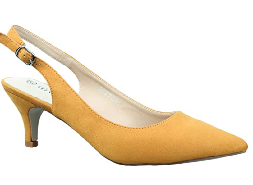 low slingback pump