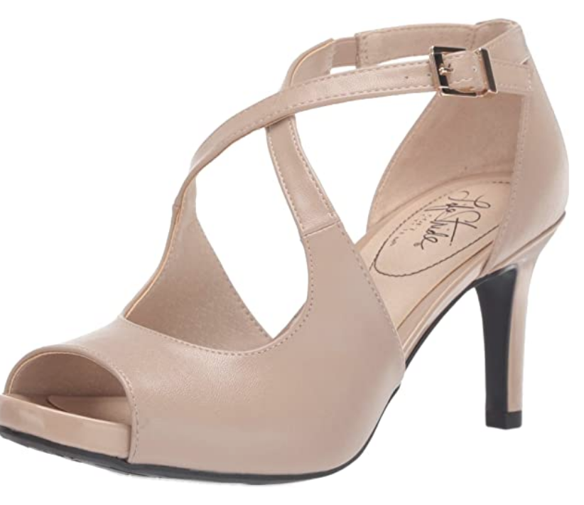 peep toe nude sandals