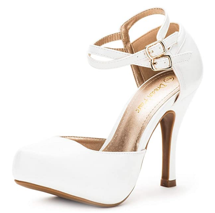 platform pumps, white