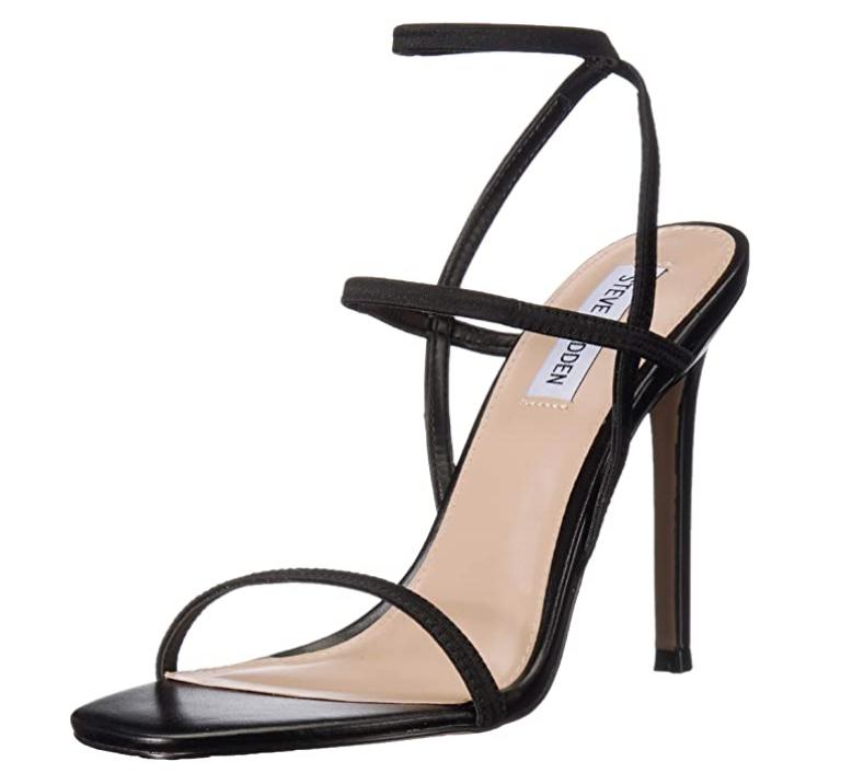 black, strappy, sandal