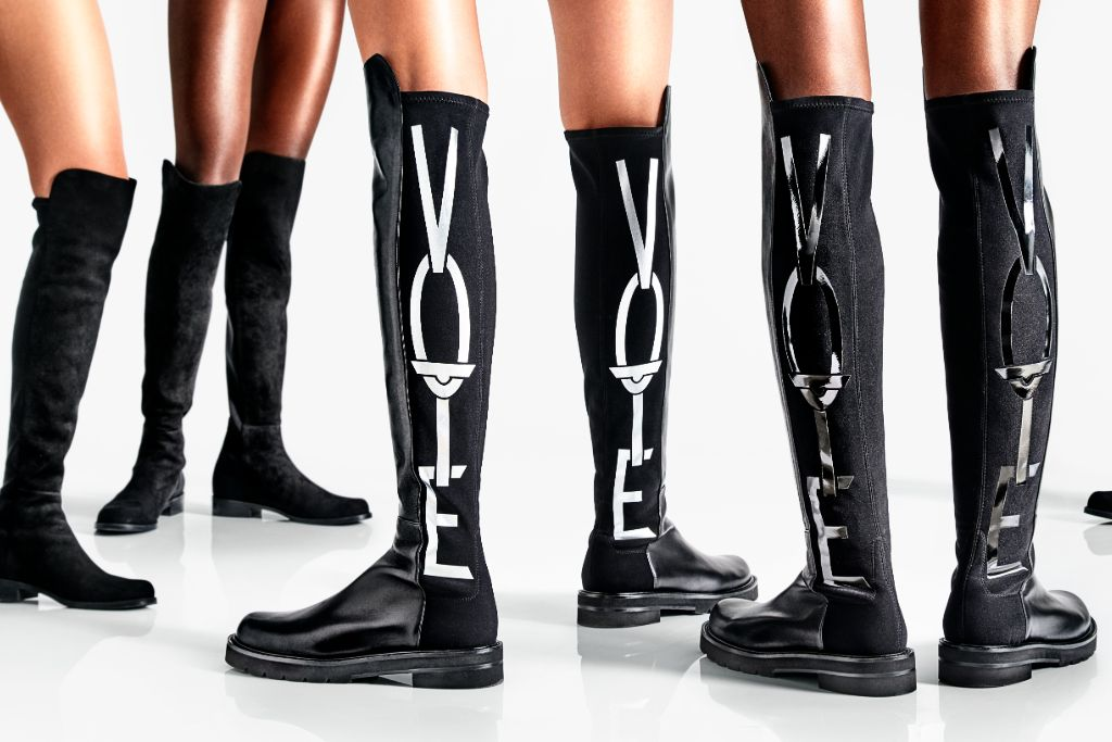 stuart weitzman, stuart weitzman vote boots, vote shoes, election 2020, election