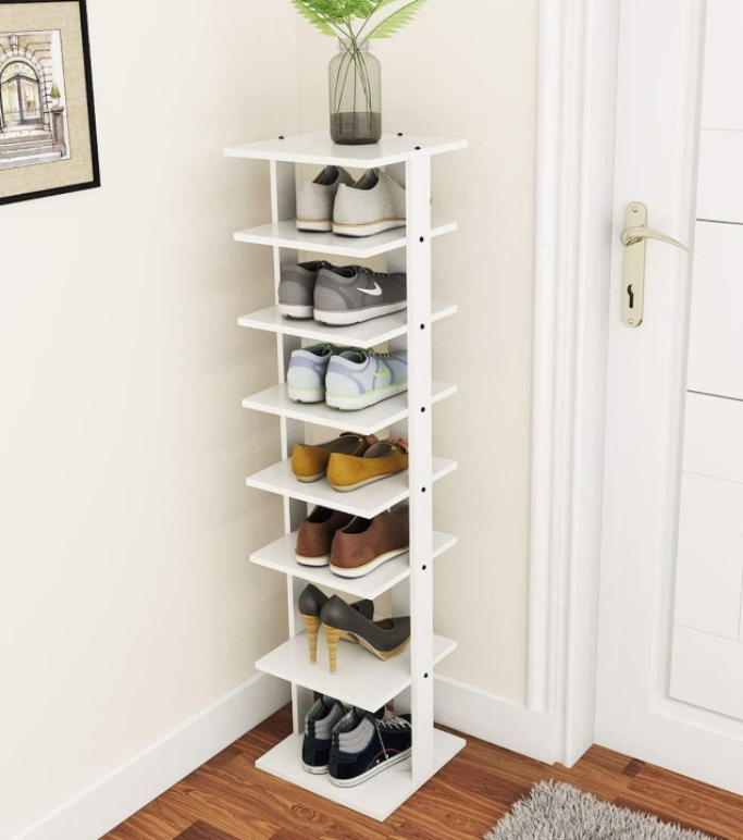 Tangkula Wooden Shoes Rack