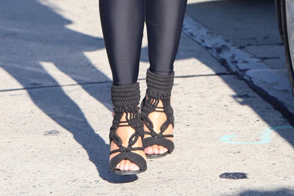Chrissy Teigen, Hollywood, Strappy Sandals, Gelato, Monochrome, Black, Leggings