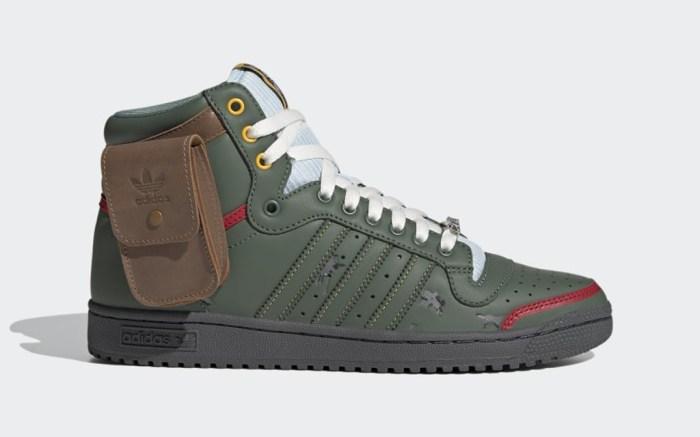boba fett x adidas top ten high sneakers, adidas x star wars, star wars sneakers