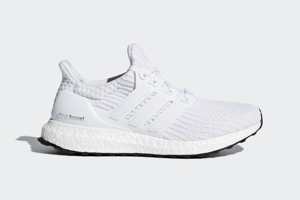 adidas, white adidas, adidas ultraboost sneakers