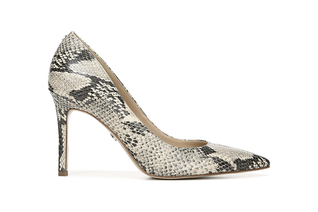 snakeskin pump, grey pump, sam edelman pump