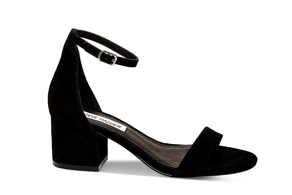 steve madden shoe, low block heel, black heels