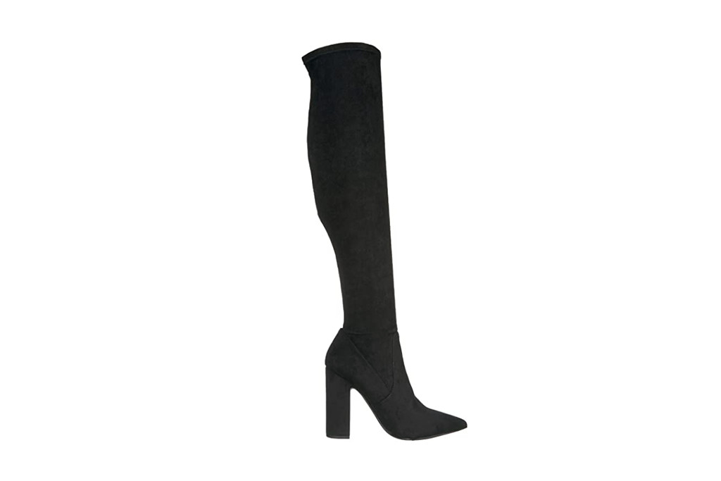 thigh high boots, black boots, steve madden boots