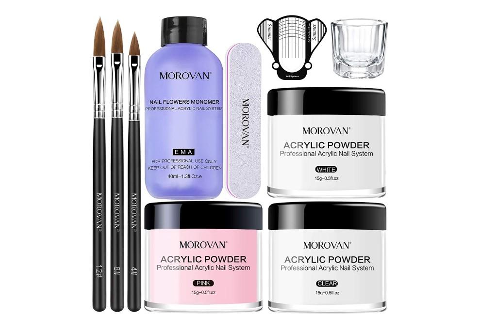 Morovan Acrylic Nail Kit, acrylic powder
