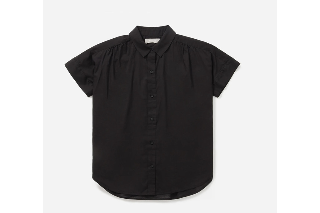 everlane blouse, air square blouse, button down shirt