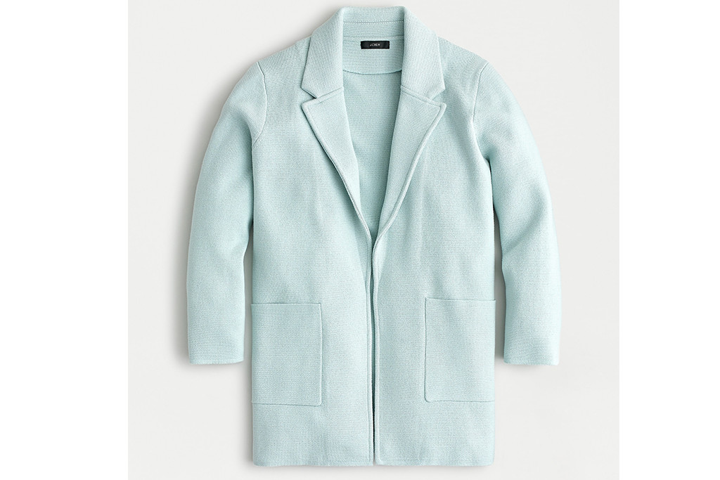 j. crew blazer, light blue blazer, outfits to style with dr. martens