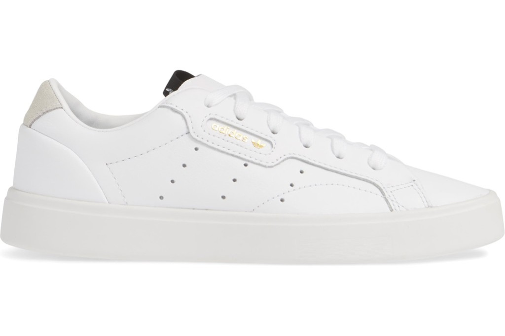 white adidas sneakers, nordstrom sneaker, all white sneaker