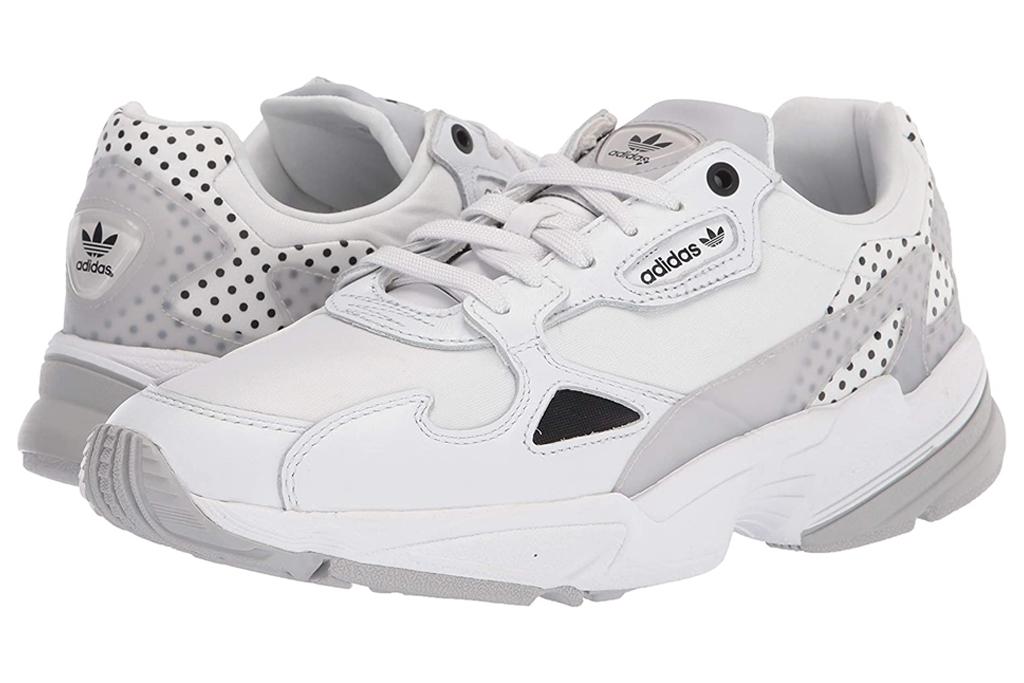 adidas, chunky sneakers, falcon, gray, white