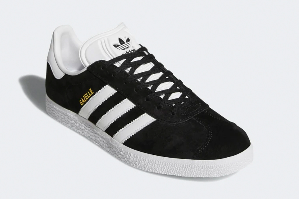 adidas, sneakers, black, white, gazelle