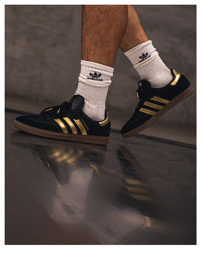 adidas, lafc, los angeles, mls, sneakers, soccer, gold, black, samba
