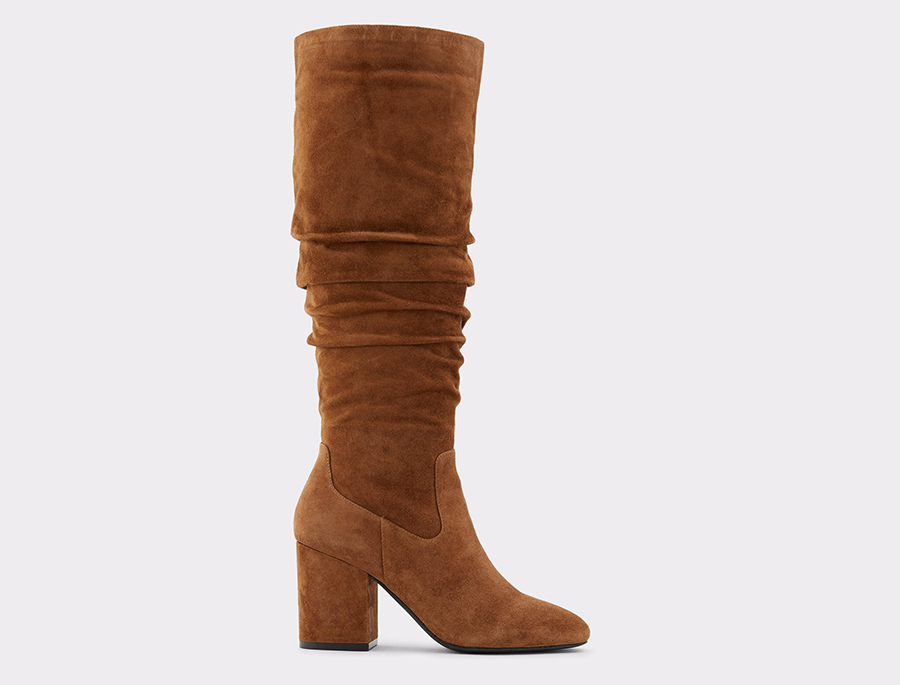 boots, brown, suede, aldo